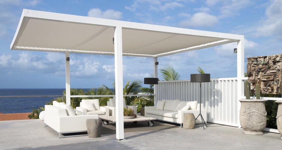 Ontwerp Curacao luxe villa porch door IHC architects