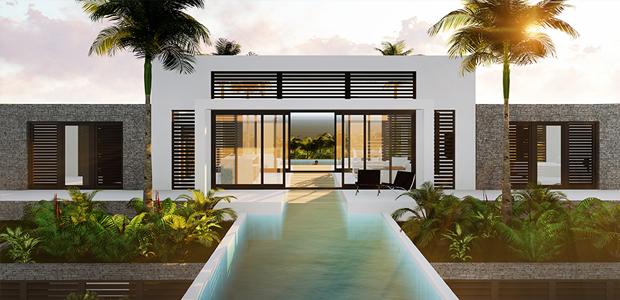 Villa Coral Estate nieuwbouw Curacao, moderne architectuur IHC architects