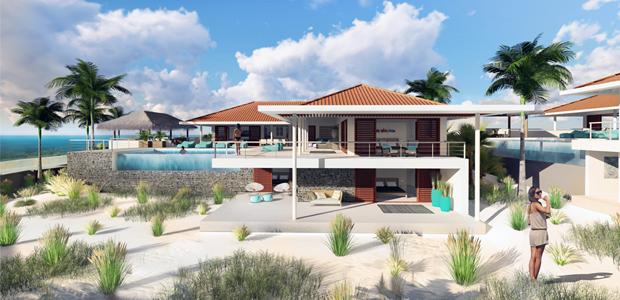 Villa Vista Royal moderne bouw Curacao, architectuur IHC architects