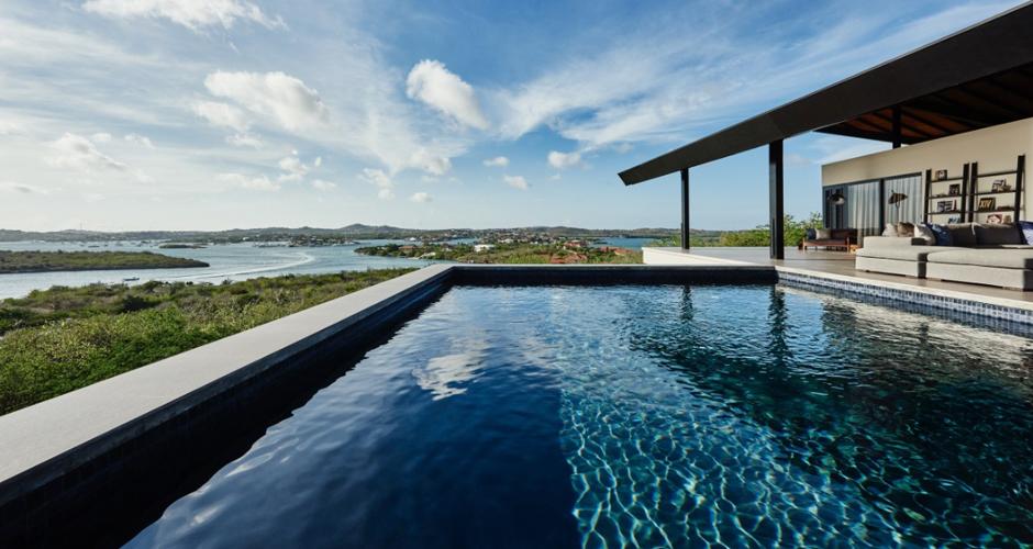 Villa Terrace Estate Curacao modern zwembad, moderne architectuur IHC architects